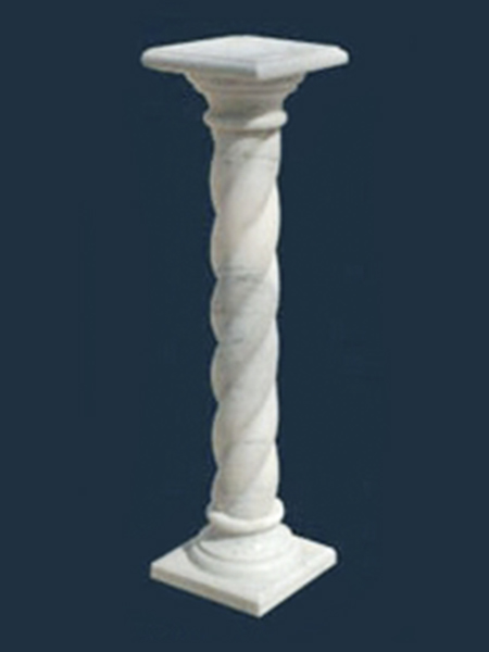 Twisted Round Marble Pillar