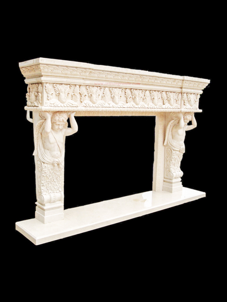 Angel Stone Fireplace Surround