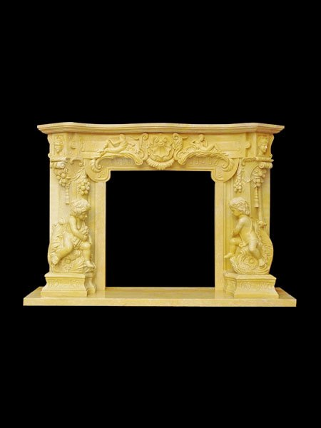Classic Boy Stone Fireplace Surround