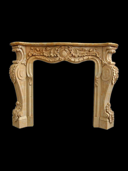 Yellow Marble Fireplace Surround