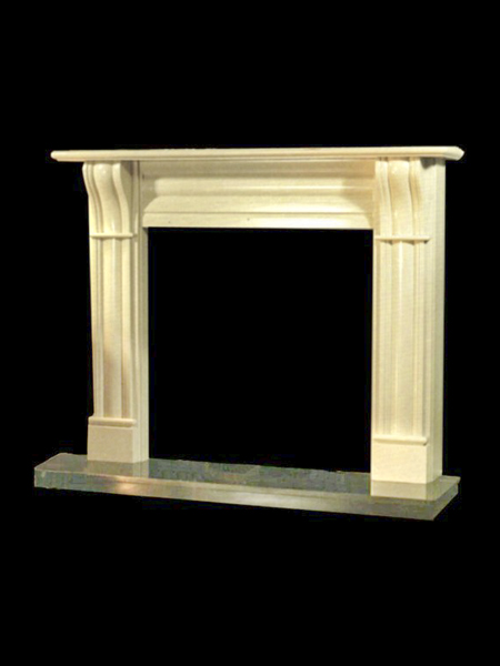 Marble Modern Fireplace Surround