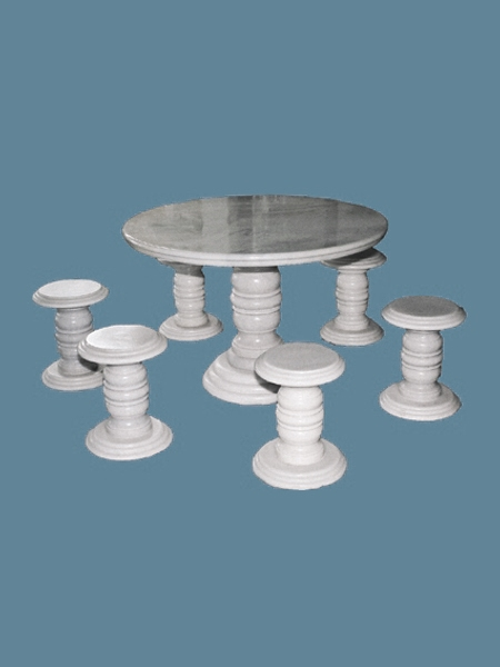 Garden Stone Round Table and Chairs