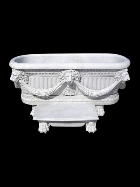 Decorative White Marble Bathtub  DSF-BT23