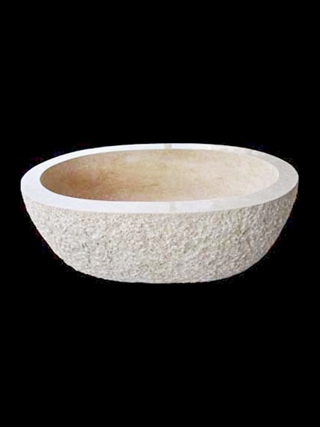 Oval White Marble Bathtub  DSF-BT28