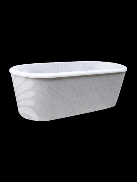 White Grey Marble Bathtub