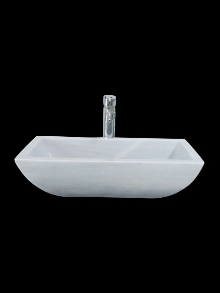 Curved Rectangular Marble Basin