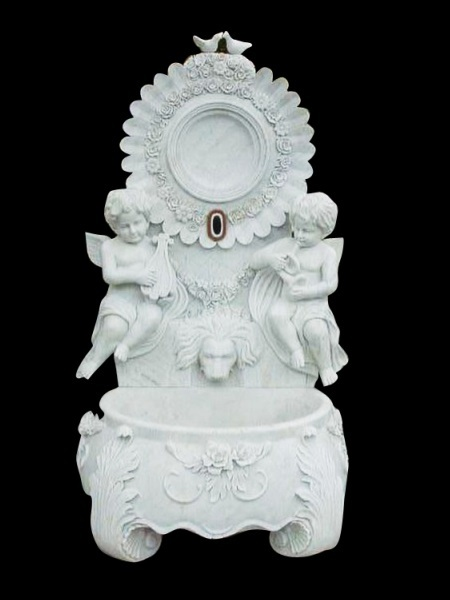 Angel marble wall fountain