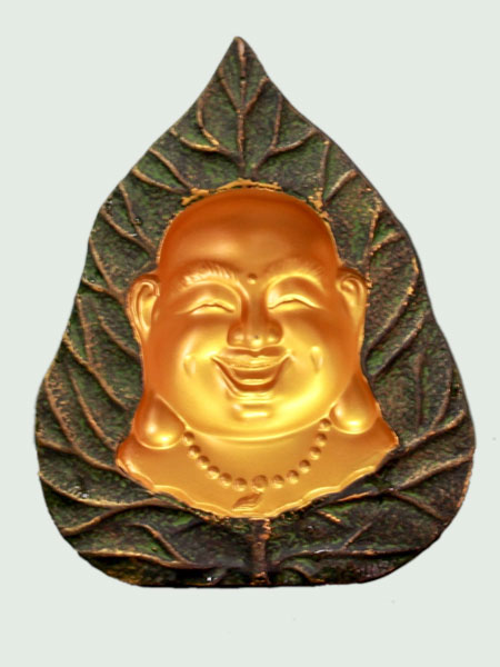 Happy Buddha Face Resin Relief