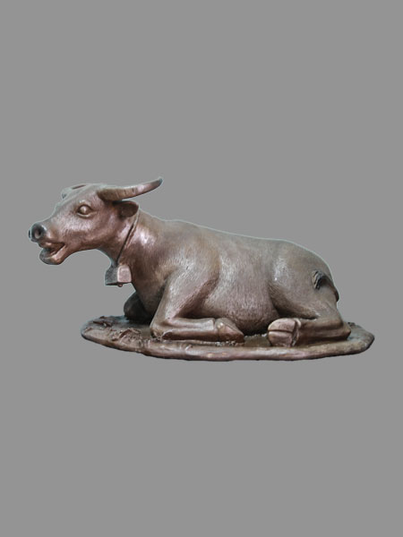 Lying Buffalo Resin Figurine