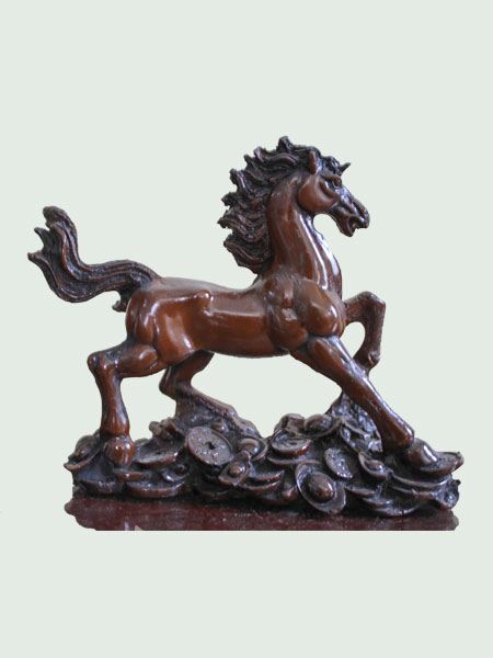 Lucky Horse Resin Figurine