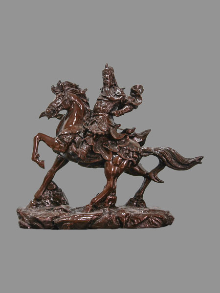 Guan Yu on Horse Resin Figurine