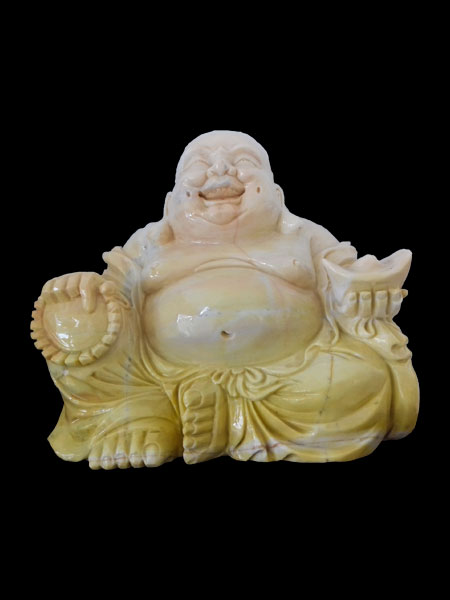 Small Sitting Happy Buddha Marble Statue