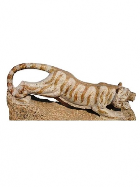 Tiger Yellow Granite Statue