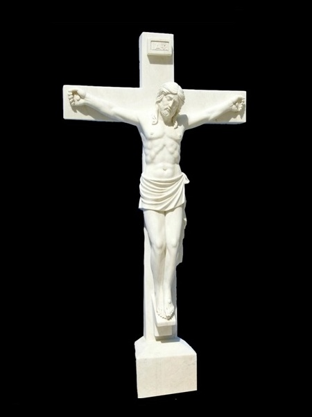 Natural Stone Standing Crucifix Statue DSF-C09