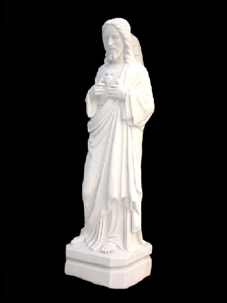 Sacred Heart of Jesus Outdoor Stone Statue DSF-C46