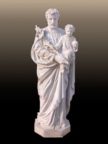 St. Joseph with Child Christ Stone Statue