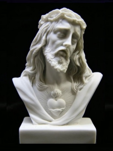 Hand carved Jesus bust stone statue DSF-C21