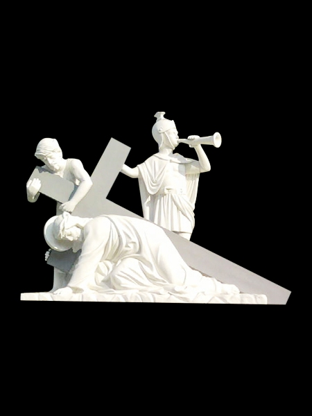 Jesus falls for the first time - Third Station of the Cross Stone Statue DSF-C95