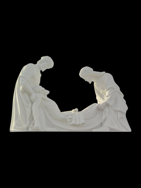Jesus placed in the tomb - Station XIV of the Cross Stone Statue DSF-C98