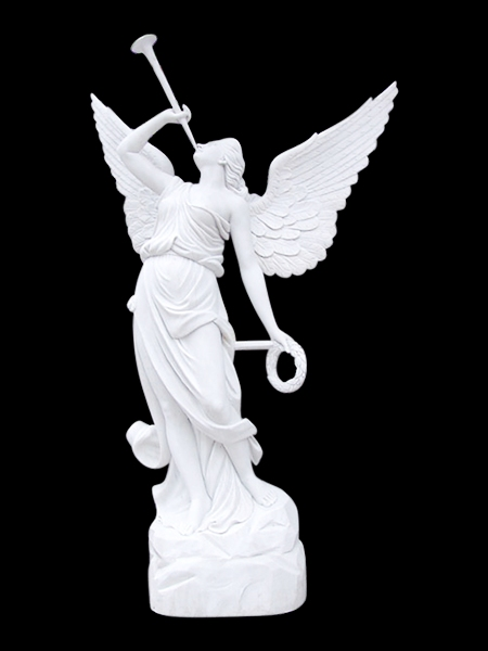 Archangel And Angel Stone Statues