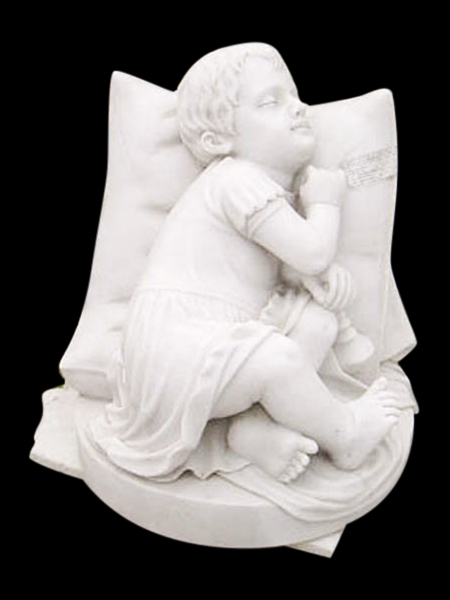 Baby Sleeping on Pillow Stone Statue DSF-EB52