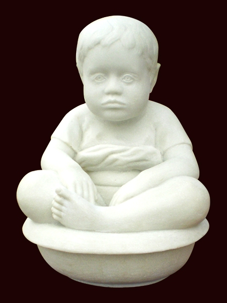 Bathing Baby Stone Statue DSF-EB28