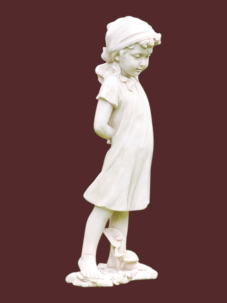 Home / Products / Angel And Baby Statues / Baby And Kid Statues / Shy Little  Girl Garden Stone Statue