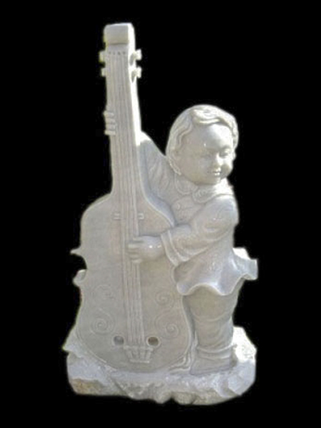 Little Boy with Guitar Stone Statue DSF-EB23
