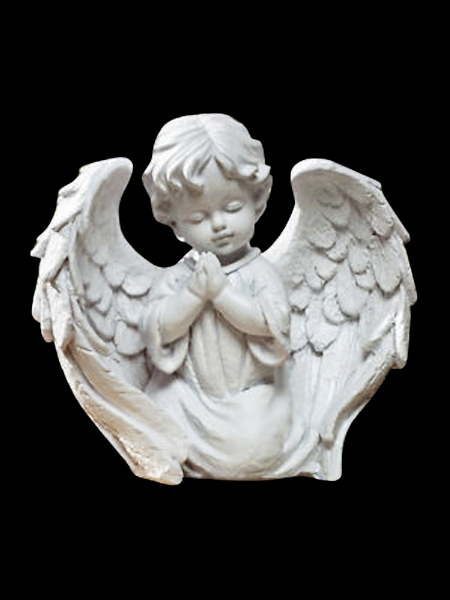 Praying Little Girl Angel Marble Statue Dsf Eb69