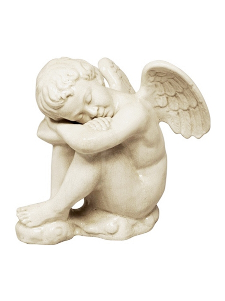 White Marble Sleeping Baby Angel Statue DSF-EB73