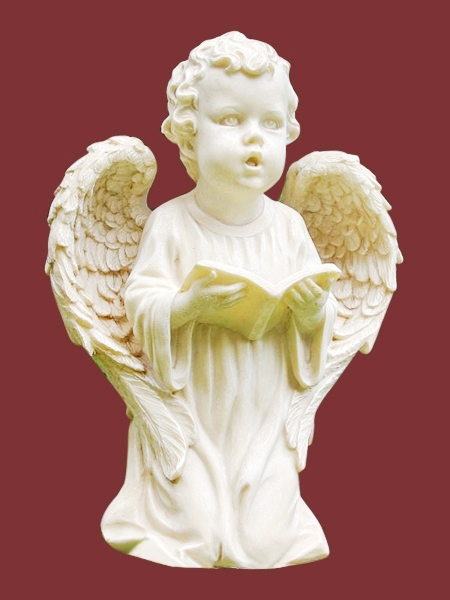 Boy Angel Reading Book Stone Statue DSF-EB67