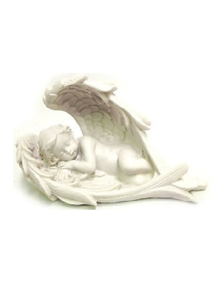 Infant Angel Sleeping in Wings Stone Statue DSF-EB76