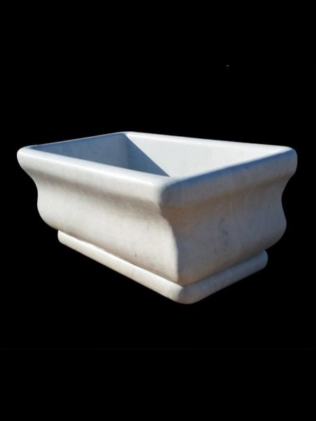 Rectangular White Marble Bathtub DSF-BT39