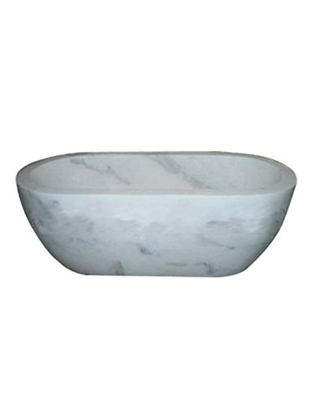 Solid White Marble Oval Bathtub DSF-BT32