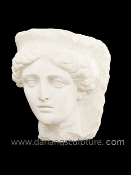 Tyche Artemis Fortune Goddess Bust Stone Statue