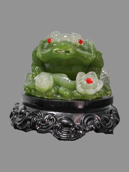 Rotating Lucky Toad Resin Figurine