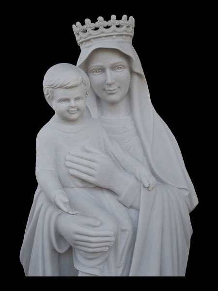 Mother Mary and Baby Jesus Stone Statue