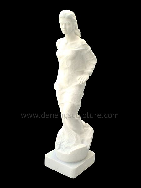Girl on egg Marble Statue
