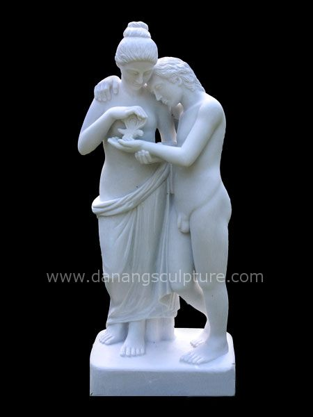 Cupid and Psyche ancient statue