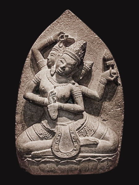 Champa and Hindu statues